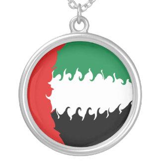 Gnarly Flagge Arabische Emirates Halskette Mit Rundem Anhänger