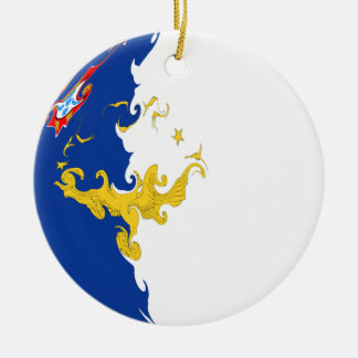 Gnarly Flagge Azoren Weinachtsornamente