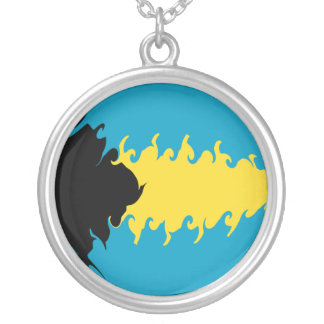 Gnarly Flagge Bahamas Personalisierte Halskette