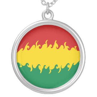 Gnarly Flagge Boliviens Halskette Mit Rundem Anhänger