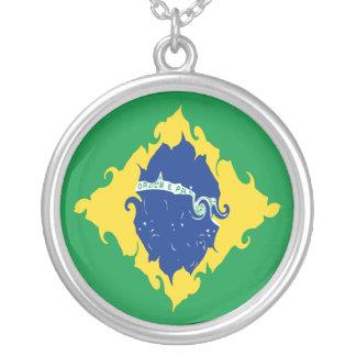 Gnarly Flagge Brasiliens Halsketten