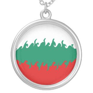 Gnarly Flagge Bulgariens Halskette Mit Rundem Anhänger