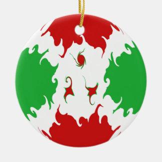 Gnarly Flagge Burundis Rundes Keramik Ornament