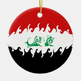 Gnarly Flagge des Iraks Rundes Keramik Ornament