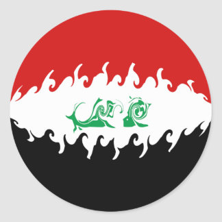 Gnarly Flagge des Iraks Stickers