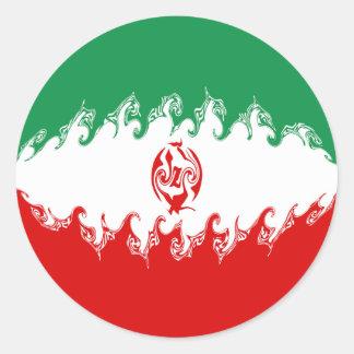 Gnarly Flagge des Irans Aufkleber