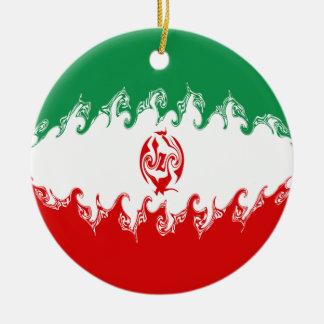 Gnarly Flagge des Irans Weihnachtsbaum Ornamente