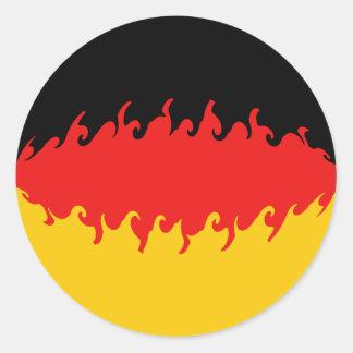 Gnarly Flagge Deutschlands Runder Sticker