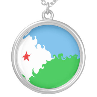 Gnarly Flagge Dschibutis Personalisierte Halskette