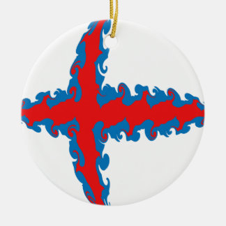 Gnarly Flagge Färöer Ornamente