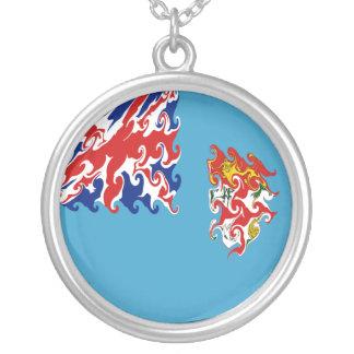 Gnarly Flagge Fidschis Personalisierte Halskette