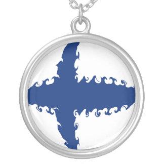 Gnarly Flagge Finnlands Selbst Gestaltete Halskette