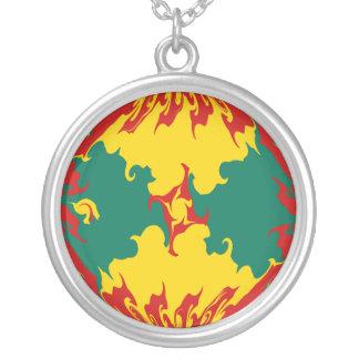 Gnarly Flagge Grenadas Personalisierte Halskette
