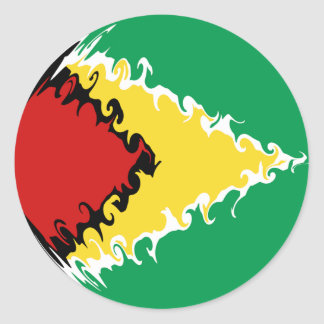 Gnarly Flagge Guyanas Runder Sticker