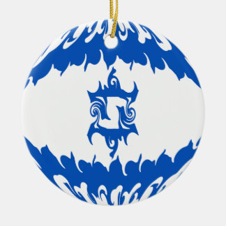 Gnarly Flagge Israels Rundes Keramik Ornament