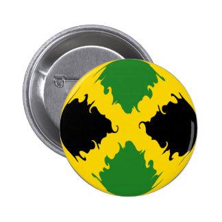 Gnarly Flagge Jamaikas Runder Button 5,1 Cm