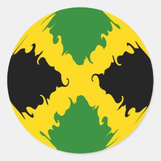 Gnarly Flagge Jamaikas Runder Sticker