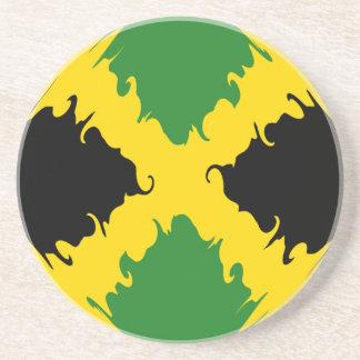 Gnarly Flagge Jamaikas Sandstein Untersetzer