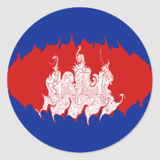 Gnarly Flagge Kambodschas Stickers