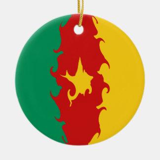 Gnarly Flagge Kameruns Rundes Keramik Ornament