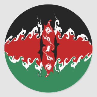 Gnarly Flagge Kenias Sticker