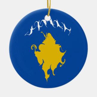Gnarly Flagge Kosovos Weihnachtsbaum Ornamente