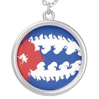 Gnarly Flagge Kubas Personalisierte Halskette