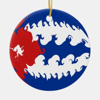Gnarly Flagge Kubas Weihnachtsornament