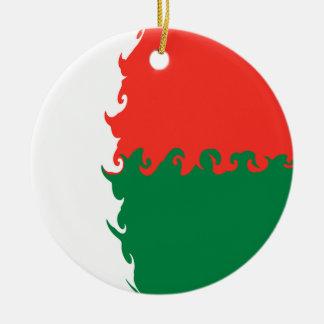 Gnarly Flagge Madagaskars Rundes Keramik Ornament