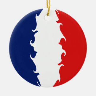 Gnarly Flagge Mayotten Rundes Keramik Ornament