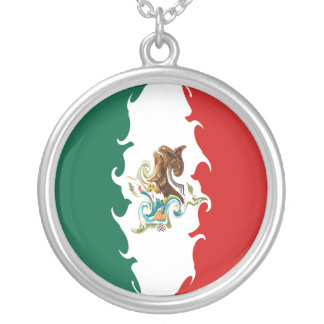 Gnarly Flagge Mexikos Selbst Gestaltete Halskette