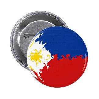 Gnarly Flagge Philippinen Anstecknadelbutton