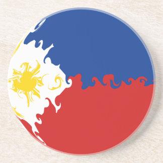 Gnarly Flagge Philippinen Getränke Untersetzer