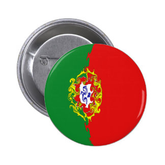 Gnarly Flagge Portugals Button