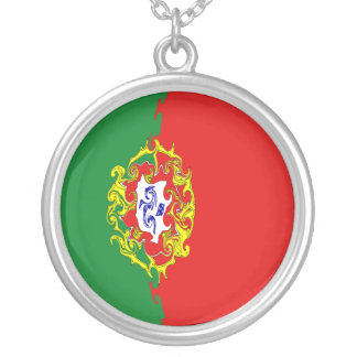Gnarly Flagge Portugals Selbst Gestaltete Halskette