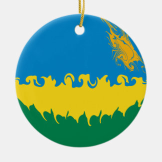 Gnarly Flagge Ruandas Weihnachtsornament