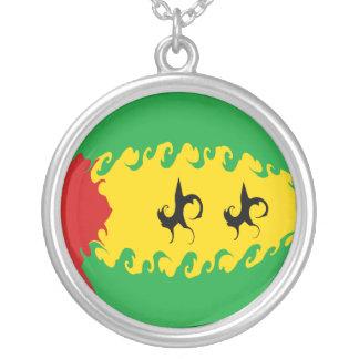 Gnarly Flagge Sao Tome und Principe Halskette Mit Rundem Anhänger