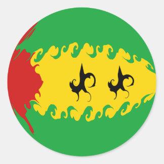 Gnarly Flagge Sao Tome und Principe Stickers
