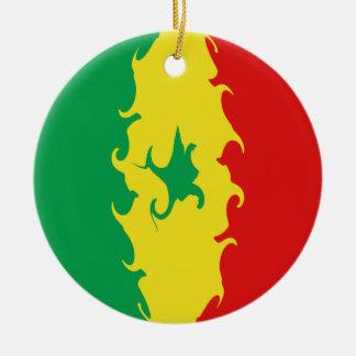 Gnarly Flagge Senegals Weihnachtsbaum Ornament