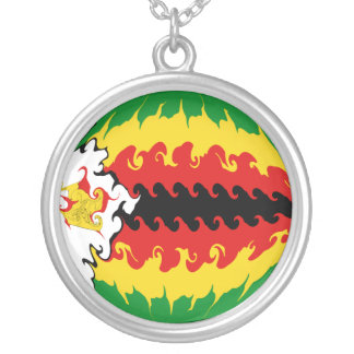 Gnarly Flagge Simbabwes Halskette