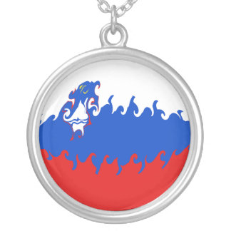 Gnarly Flagge Sloweniens Selbst Gestaltete Halskette