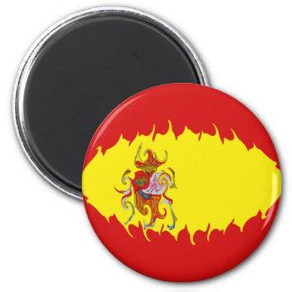 Gnarly Flagge Spaniens Runder Magnet 5,1 Cm