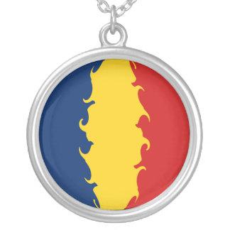 Gnarly Flagge Tschads Halskette Mit Rundem Anhänger