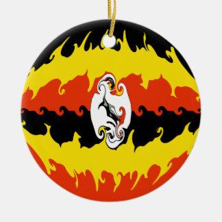 Gnarly Flagge Ugandas Weinachtsornamente
