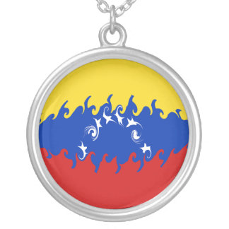 Gnarly Flagge Venezuelas Halskette Mit Rundem Anhänger