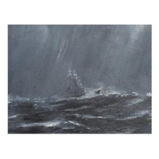 Gneisenau Sturm in der Nordsee 1940. 2006 Postkarte
