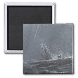 Gneisenau Sturm in der Nordsee 1940. 2006 Quadratischer Magnet