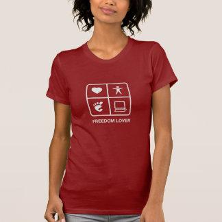 GNOME Freiheits-Liebhaber-Damen-T - Shirt