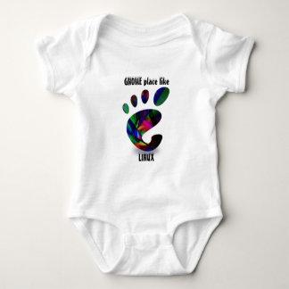 GNOME Platz mögen LINUX Baby Strampler