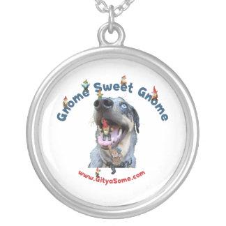 Gnomesüßer Gnome-Hund Versilberte Kette
